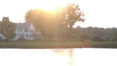 House is on a river and a lake.  This was taken from across the lake.
