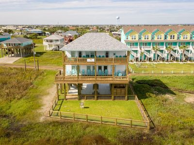 Photo for Bella Vita, Beachfront, Dog Friendly, Double Decks, Ocean View, Bolivar, Texas