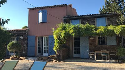 Photo for In the heart of the Massif des Maures, in the countryside, 2 houses in a former hamlet