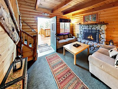 Living Area - This Moonridge cabin is professionally managed by TurnKey Vacation Rentals.