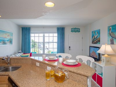 Photo for Waterfront condo fully equipt with 2 balconies, 5 min only to the beach!