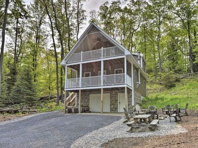 Photo for Cozy Old Forge Home w/2 Porches, Fire Pit, Hot Tub