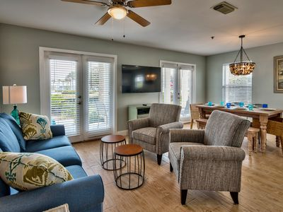 Photo for Beautifully Remodeled Condo Sleeps 8!!  Directly Across from the Beach!!