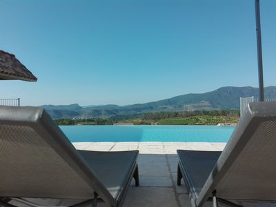 Photo for Le Mas de Vignal, gîte for 2 people, infinity pool
