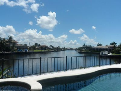 Photo for Stunning Waterfront View property within walking distance of the beach.