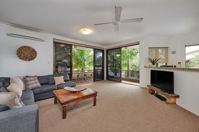 Open Plan Living and Dining across the road from the beach