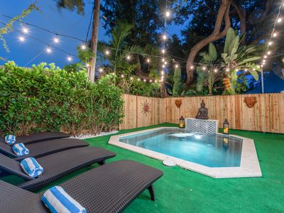 Photo for Bohemian Bungalow—Plunge Pool 10min from SOUTH BEACH