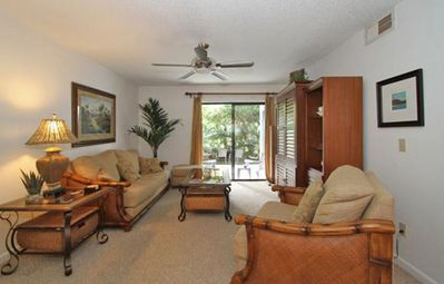 Photo for Lovely two bedroom two bath condo Sleeps 5  WiFi, 3 pools, Ocean across street