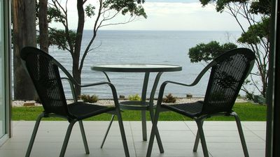 Private deck overlooking the ocean and the 'Golfie' surfing reef break.