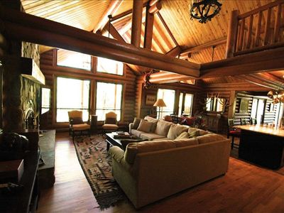Photo for NEWER, LUXURY, Solid LOG CABIN on Secluded 10 ACRES in Northern AZ
