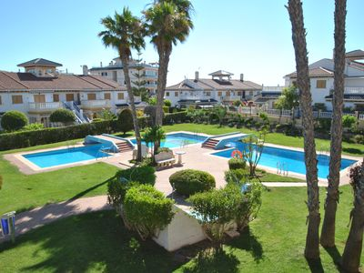 Photo for Playa de la mata, ground floor air-conditioned, 2 bedrooms, 2 bathrooms. 350 meters to the beach,
