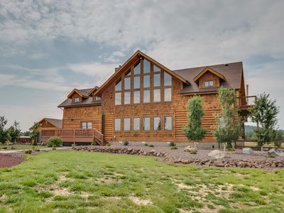 Photo for Luxury Log Cabin On 5 Acres, Gated And Fully Fenced.