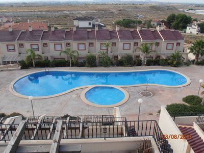 Photo for Two Bed Penthouse Apartment, full aircon, wifi, communal pool, fantastic views.