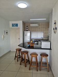 Fully catered kitchen with washing machine