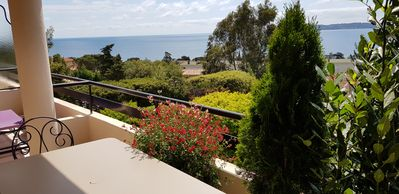 Photo for Ste Maxime, sea view Comfortable, quiet, walk to the town center and beaches