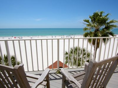 Photo for Extra Large Beach Townhome.  Directly on the Gulf and Sand.  Wonderful Beach Views from Every Room!