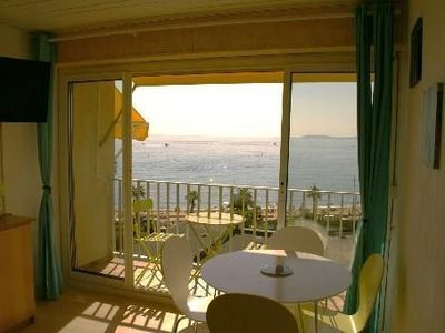 """Photo for Studio 2 people, sea and beach view direct access - residence """"walks"""""""