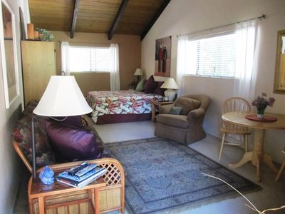 Charming, comfy 23X15 room w/lots of amenities.