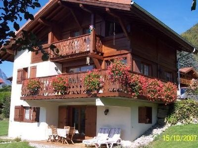 Photo for Facing Mont Blanc, rent the ground floor of a chalet in Passy
