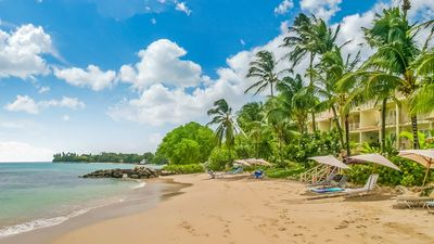Photo for Stunning 3 bedroom penthouse apartment with direct beach access at Reeds Bay Barbados