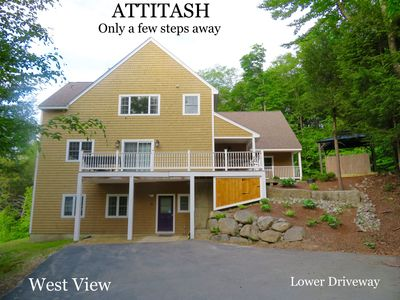 Photo for Attitash slopes footsteps away! Hot tubs, pool, health club access included!
