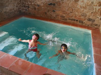 Photo for beautiful farmhouse with summer pool in stonehouse of the 18th century with pool