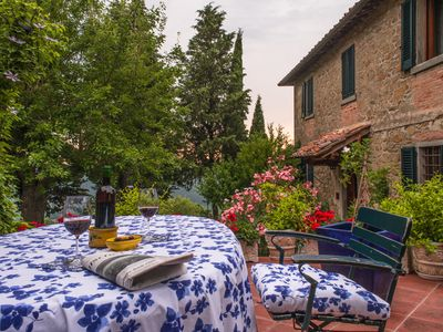 Photo for Charming Apartment With A Stunning View In The Heart Of Chianti Classico