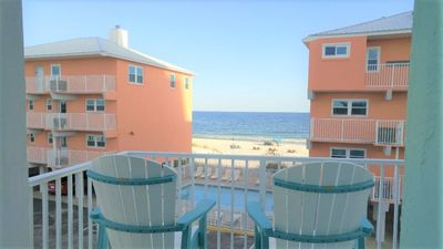 Great Gulf Views - Balcony Overlooks Pool and Gulf,  100 ft to the san