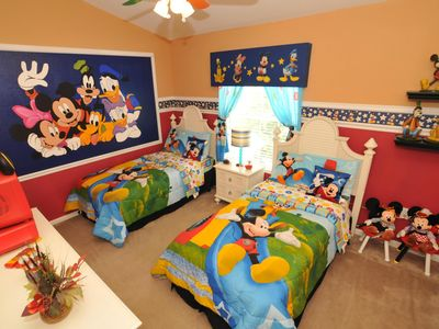 Photo for Best rates, Disney Decor + Private Pool & Spa only 5 min to Disney