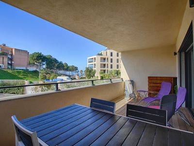Photo for PORTICCIO - Luxury apartment 2 steps from the beach F3-270