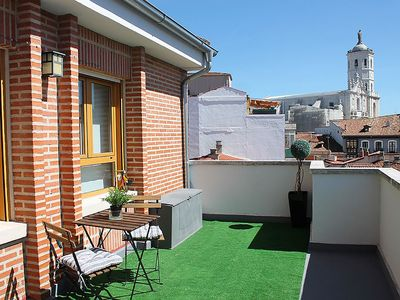 Photo for Penthouse center with large terrace, renovated and sunny. Wifi - License