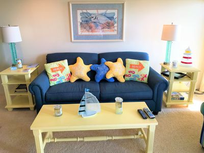 Photo for OCEANFRONT Condo in Duck with many amenities.  Sleeps five, walk to attractions.