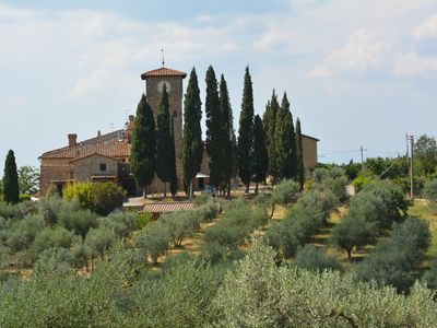 Photo for House with character in typical medieval borgo on the Chianti Classico hills
