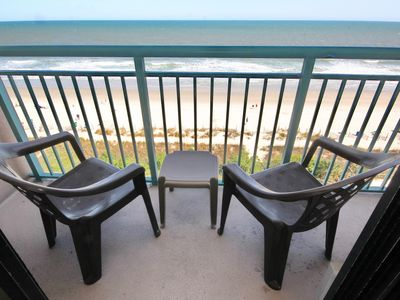 Photo for Beautiful East Coast Sunrises from this Direct Oceanfront Myrtle Beach Condo