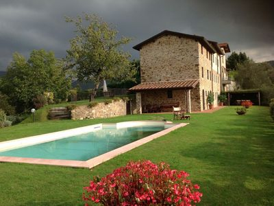 Photo for Wonderful rustic farmhouse on the hills of Camaiore
