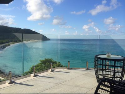 Photo for 2 bedroom modern villa with stunning views overlooking the beach in Tamarind Hills