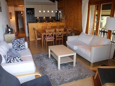 Photo for 3* - 3-bedroom-apartment for 8 people, next to the skilift lift. Bright livingroom with tv and free