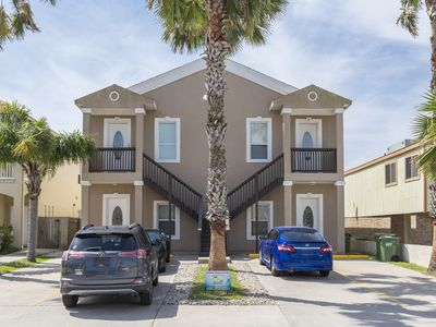 Photo for Charming Condo with Sparkling Pool, Stocked Kitchen, Washer & Dryer! 1/2 Block to the Beach!
