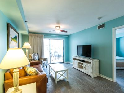 Photo for Beachy Condo with Private Balcony ~ Indoor/Outdoor Pool, Hot Tub & Grills!