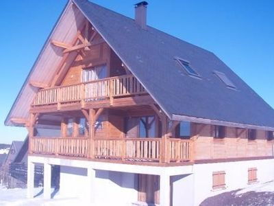 Photo for Large chalet - Full south, overlooking the Cantal - A ski resort 1400 meters