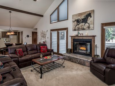 Photo for Cabin near Ski Run Road w/ WiFi, Fireplace, Grill, Hot Tub, Complex Golf & Pool
