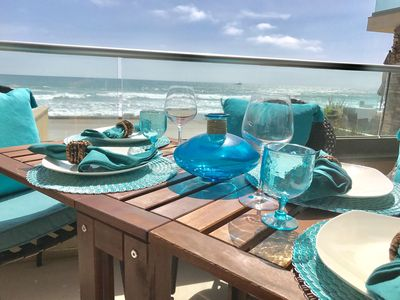 You can have every meal on your oceanfront patio!