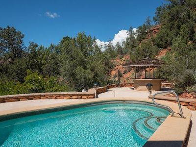 Photo for Two story octagonal home with amazing views and private pool!! Manzanita - S043