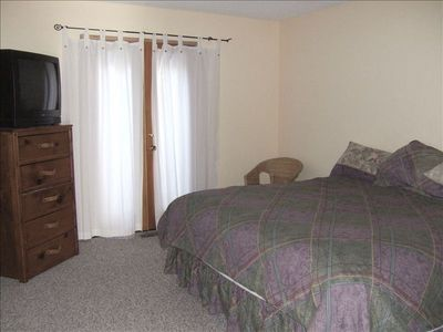Downstairs bedrooms with king bed