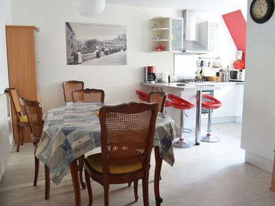 Photo for Saint-Malo Intramuros, 3 * apartment for 6 people, 2 bedrooms, beach 170m