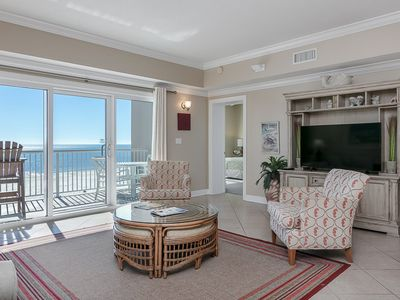 Photo for Spacious condo w/ Gulf-front views & access to pools/hot tub/gym!