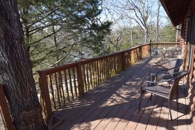 The private deck features beautiful views