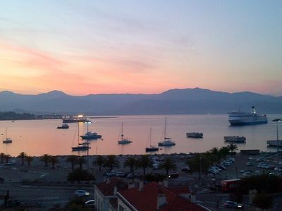 Photo for rental F4, 95 m2, air-conditioned, Ajaccio center, private parking, breathtaking sea view