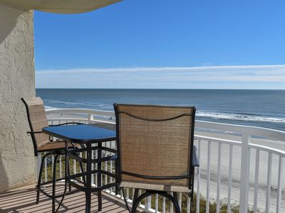 Photo for MAY AND JUNE DEALS!  Minutes away from Ocean Drive...3 Bedroom 3 Bath OCEANFRONT Condo. Indoor Pool, WIFI, W/D and Jacuzzi