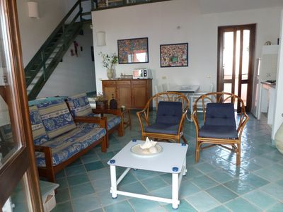 Photo for FIRST ROW .  Large balcony overlooking the sea with exceptional views. Wi-Fi free
